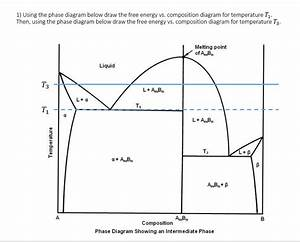 Solved  1  Using The Phase Diagram Below Draw The Free Ene
