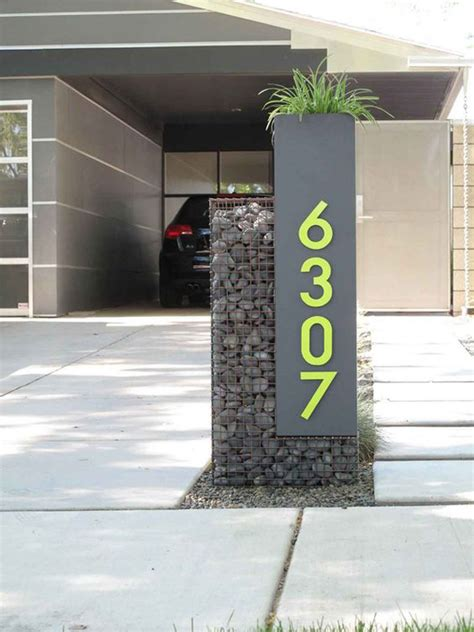 modern  creative diy house number projects home