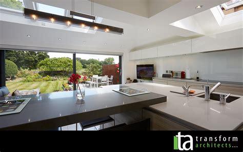 modern open plan kitchen designs new transform architects house extension ideas 9253