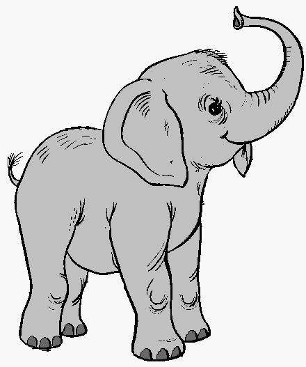 elephant clipart outline trunk up trunk clipart small elephant pencil and in color trunk