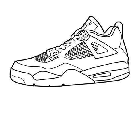 Coloring Jordans by Basketball Coloring Pages Like Shoe