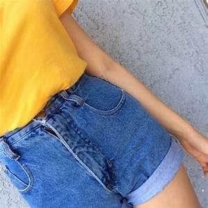 Shorts denim shirt tumblr tumblr outfit tumblr girl tumblr clothes tumblr shirt tumblr ...