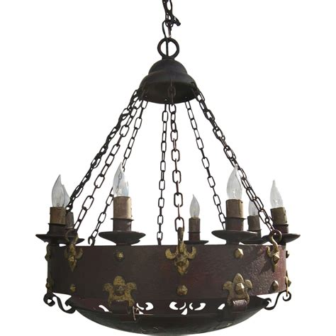 wonderful arts and crafts iron style chandelier