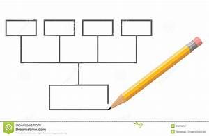 Stylo  U00e9crivant Le Diagramme Vide Photographie Stock Libre De Droits