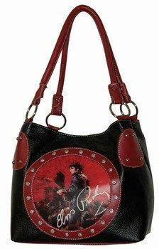 elvis presley purse  circle stone style medium tote bags studded bag