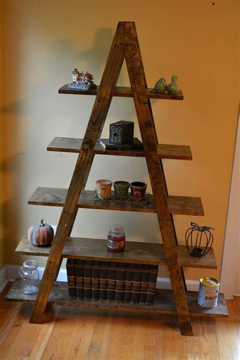 cascade ladder book shelf  frame bookshelf shelves decor