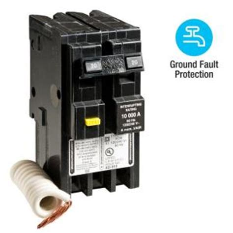 Square Homeline Amp Pole Gfci Circuit Breaker