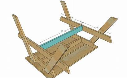 Picnic Table Plans Woodworking Step Projects Diy