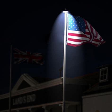 outdoor flag pole lights solar powered flag pole top light 26 led automatic