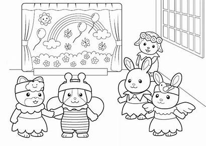 Calico Coloring Pages Critters Cat Gingerbread Printable