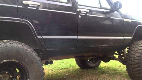 jeep cherokee flowmaster exhaust youtube