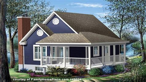 House Plans Front Porch by Cottage House Plans With Basement Cottage House Plans With