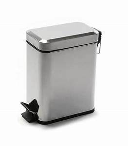 Salle De Bain Etroite : poubelle de salle de bain troite en m tal blanche et chrome 3l ~ Melissatoandfro.com Idées de Décoration