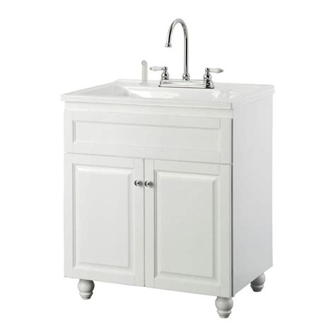 home depot utility sink faucet foremost bramlea 30 in laundry vanity in white and