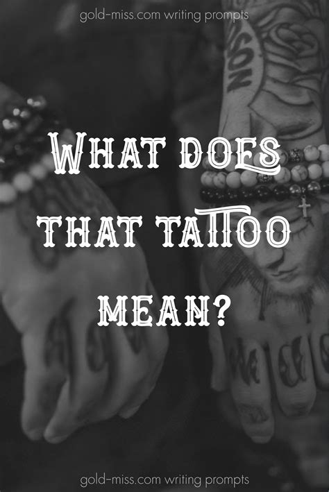 What does that tattoo mean? Writing prompts from romance novel author Madi Le. Start writing now
