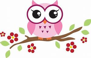 Cute Owl On Branch Clip Art - ClipArt Best