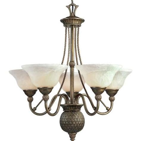 progress lighting collection 5 light burnished