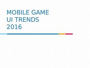 Mobile game UI trends 2016