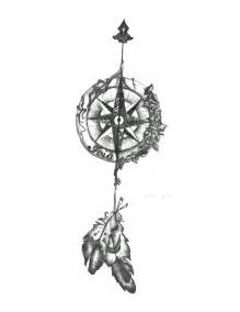 Arrow Compass Tattoo Designs Drawings