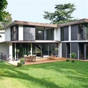 une maison moderne qui invite le jardin a l39interieur With maison avec jardin interieur