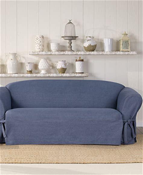 macys sofa covers sure fit authentic denim one sofa slipcover