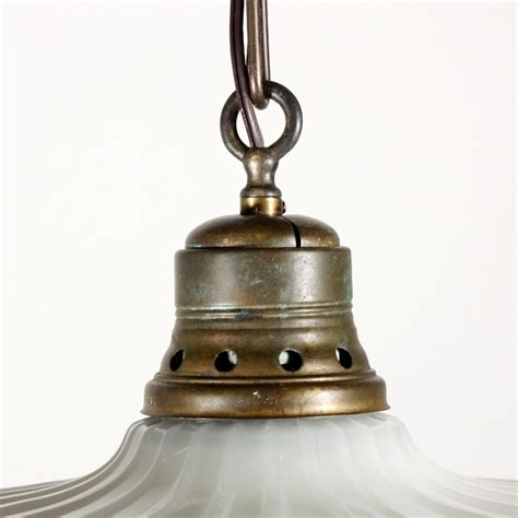 beautiful antique industrial light fixture with scalloped
