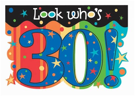 Happy 30th Birthday Images Happy 30th Birthday Clipart 498608 Clip Net