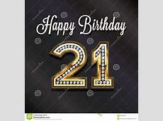 21th Happy Birthday Anniversary VIP Card Stock