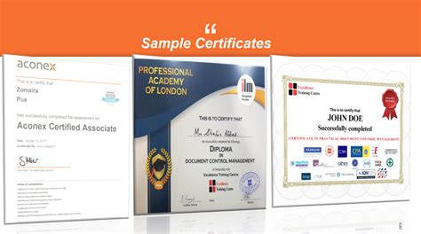 diploma  document control excellence training