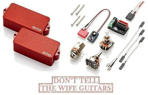 Emg Bass Red Active Precision Replacement Solderless
