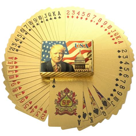 President, see donald trump achievements. 24K GOLD DONALD TRUMP PLAYING CARDS w/ CERTIFICATE OF AUTHENTICITY CARD - James Red Pills America