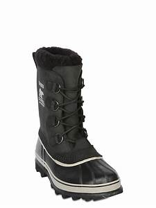 "Sorel ""Caribou"" Waterproof Nubuck Boots in Black for Men ..."