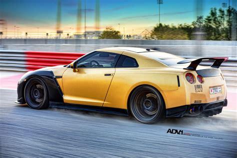 Gold Carbon Ams Nissan Gt R With Adv 1 Wheels Gtspirit