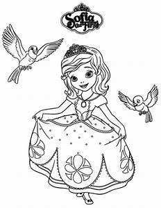 Princess Sofia Coloring Pages Coloringsuitecom