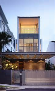 multi level house plans slim singapore house by hyla architects thecoolist the