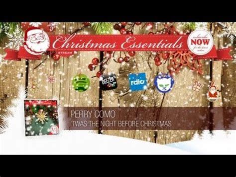 perry como the classic christmas album perry como twas the night before christmas remastered