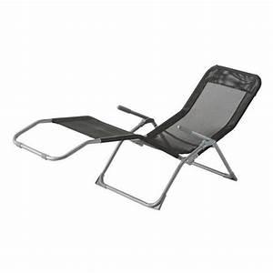 Chaise Longue Jardin Pas Cher : chaise longue siesta hesperide noir achat vente transat ~ Teatrodelosmanantiales.com Idées de Décoration