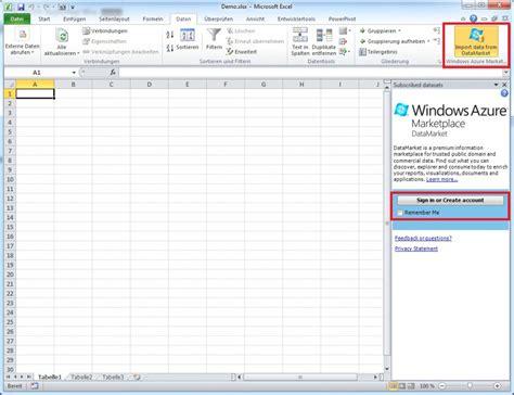 Marktdaten Aus Dem Windows Azure Marketplace  Teil 2
