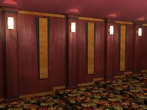 Veneered Wood Home Theater Column