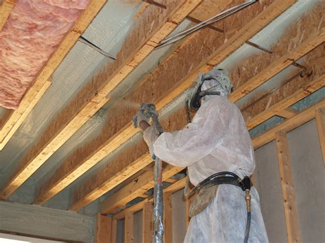 Closed Cell Spray Foam Insulation Used As An Air Barrier