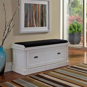 Home, Styles, Nantucket, Distressed, Upholstered, Storage, Bench
