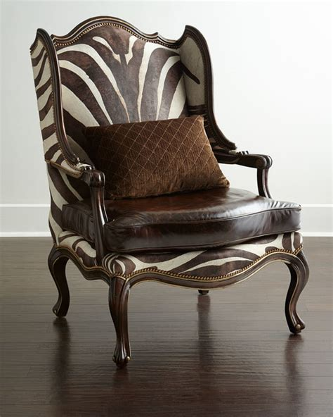 zena zebra print chair brown zebra contemporary