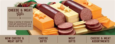 meat and cheese gift basket meat cheese sausage gift baskets and food gifts figi 39 s