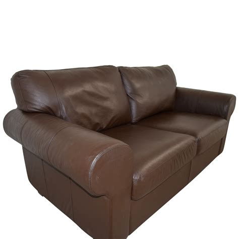 Curved Loveseats by 73 Brown Leather Curved Arm Loveseat Sofas