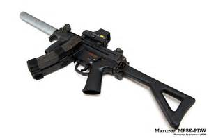 PDW MP5K Airsoft with Suppressor