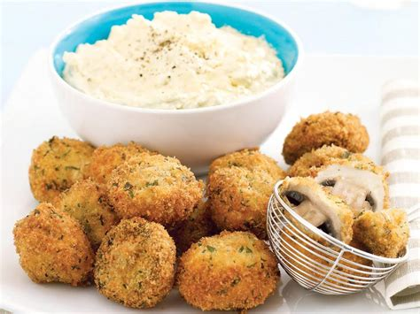 mushrooms crumbed dip olive fried deep appetizers recipes recipe save