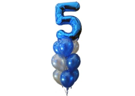 birthday balloons number  blue balloons helium