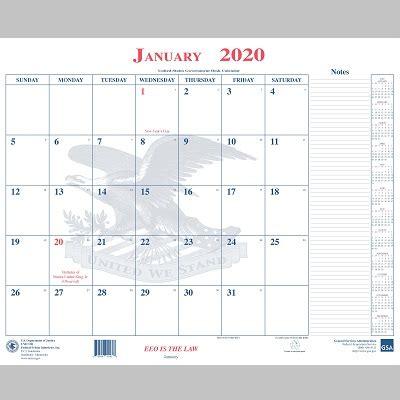 unicor shopping bop calendar desk blotter