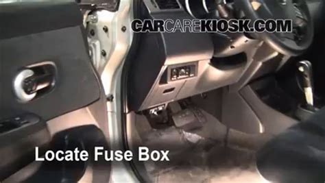 interior fuse box location   nissan versa