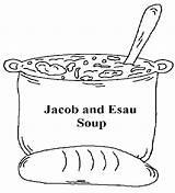 Jacob Esau Bible Sunday Coloring Clipart Craft Soup Lesson Crafts Lessons Activities Preschool Stew Church Children Churchhousecollection Lessen Maze Comes sketch template